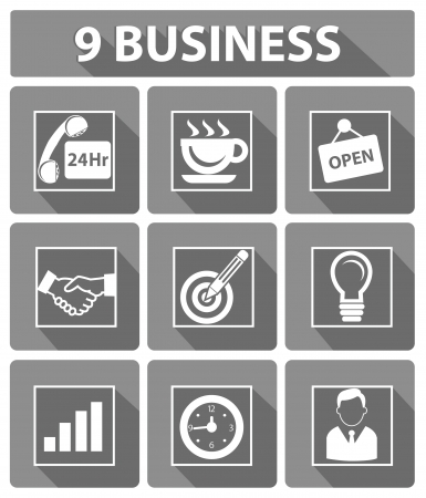 9 Business concept,Gray version,vector Vector