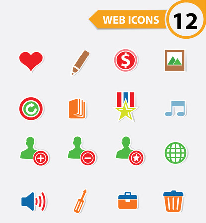 12 Easy icons,vector Vector