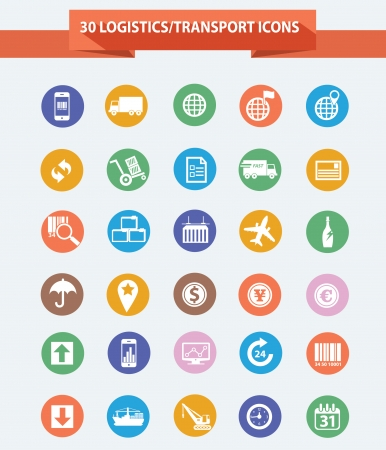 overnight delivery: Logistics icons,Colorful version,vector