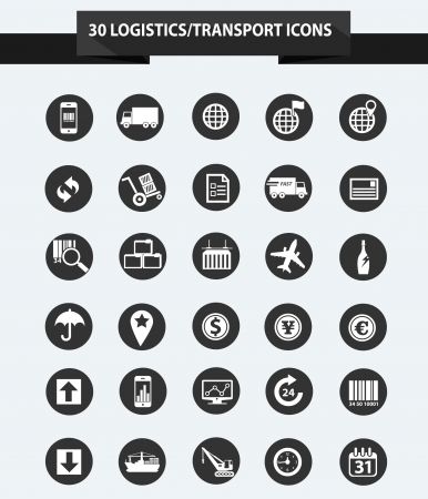 Logistics icons,Black version,vector Vector