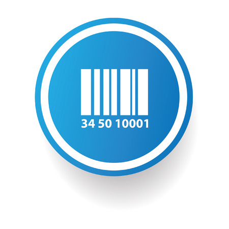 Barcode symbol,Blue button,vector Vector