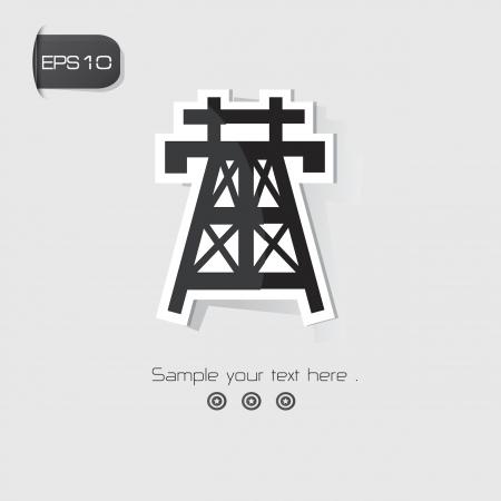 voltage symbol: High voltage symbol,Black version,vector