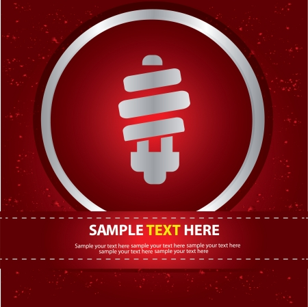 lamplight: Light bulb symbol,vector Illustration