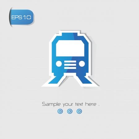 sonic: Train symbol,Blue version,vector Illustration