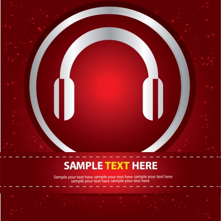 earphone: Earphone symbol,vector
