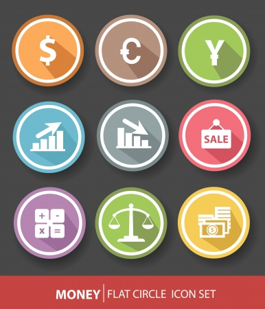 Money and finance buttons,vector Vector