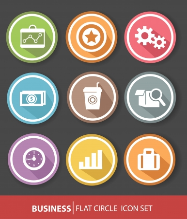 Business and office buttons,vector Vector