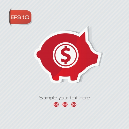 Piggy Bank symbol,vector  Vector