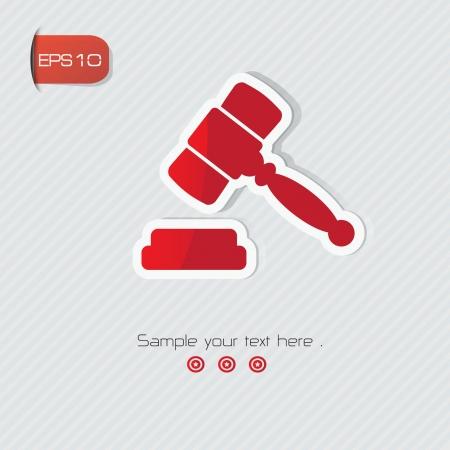 Hammer symbol Stock Vector - 24633379