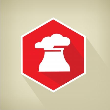 Nuclear button,vector Stock Vector - 24499611