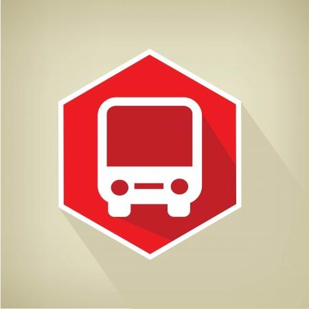 Bus button,vector  Vector