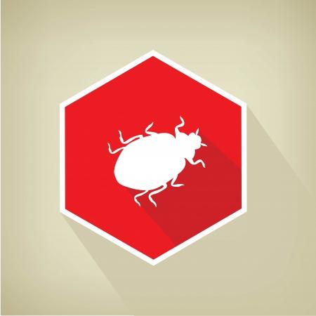 Virus button,vector  Stock Vector - 24499635