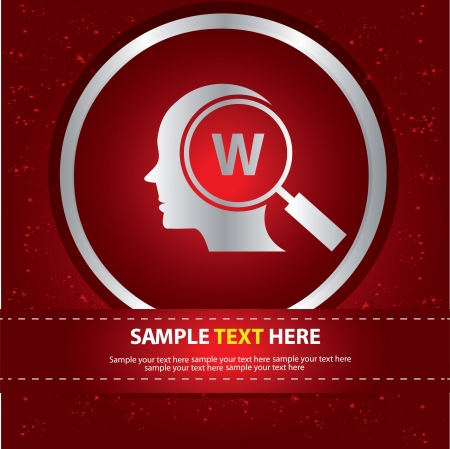 Keyword searching symbol,vector Stock Vector - 24499639