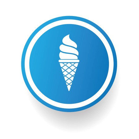 Icecream symbol button on White background,vector Vector