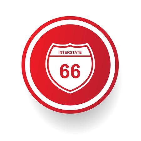 66: Route 66 symbol,vector