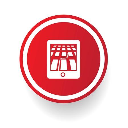 electronic organiser: Gps symbol,vector