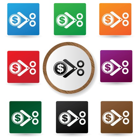 Cut Tax symbol,Colorful buttons,vector