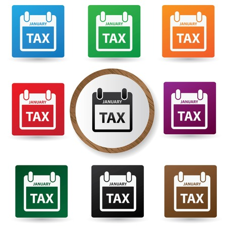 libertarian: Tax symbol,Colorful buttons,vector Illustration