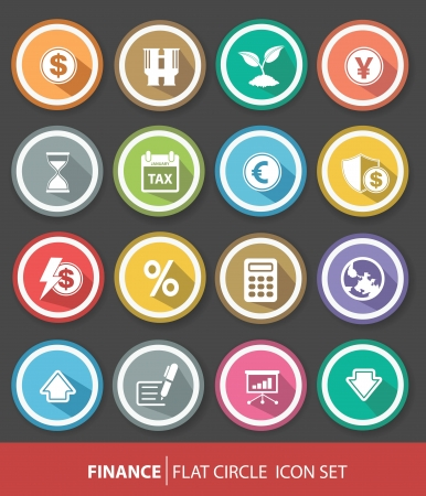 Economic and finance buttons,Colorful version,vector Vector
