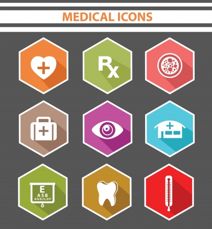 Medical icons,Colorful version Stock Vector - 24828967