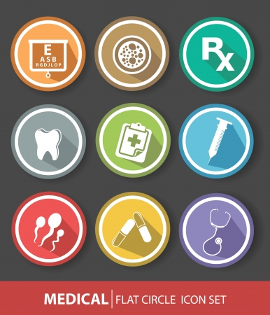 Medical buttons,Colorful version  Vector