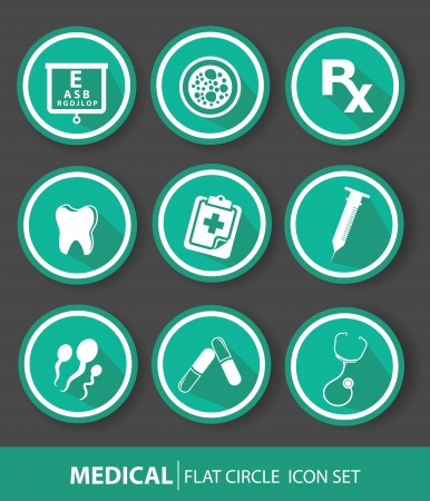 ampule: Medical buttons,Green version Illustration