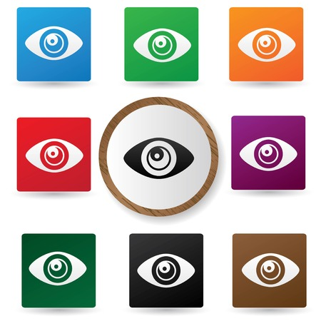 Eye symbol,Colorful version,vector  Vector