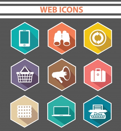 Web icons,Colorful version Stock Vector - 24828977