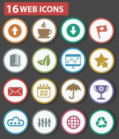 nota: Website and business icons,Colorful version