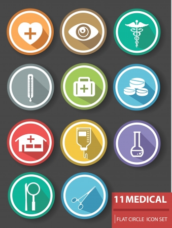 Medical buttons,Colorful version Stock Vector - 24753578