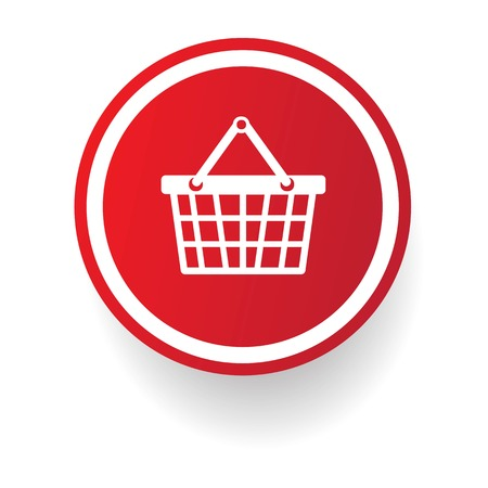 Basket,shopping button,vector  Vector