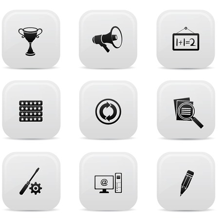 Web buttons,Black version Vector