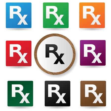 medical symbol: S�mbolo m�dico, Versi�n colorida, vector Vectores