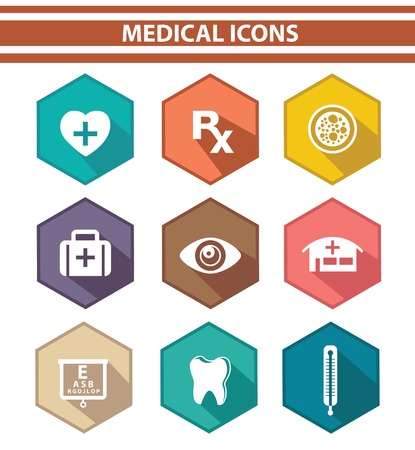 Medical icons,Colorful version