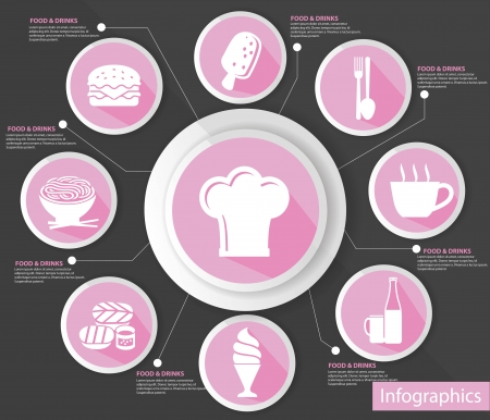 Cooking concept,abstract,Pi nk version,vector Vector