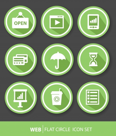 Web icons,Green version,vector  Vector