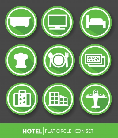 Hotel buttons,Green version,vector Vector