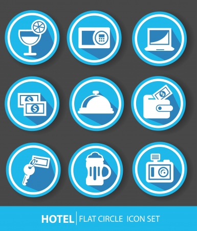 Hotel buttons,Blue version,vector Vector