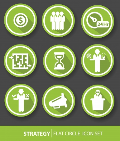 incorporation: Strategy,Business buttons,Green version,vector