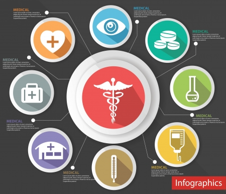 Medical concept,abstract,Co lorful version,vector Vector