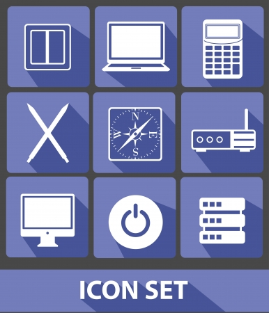Web icons,Blue buttons,vector Vector