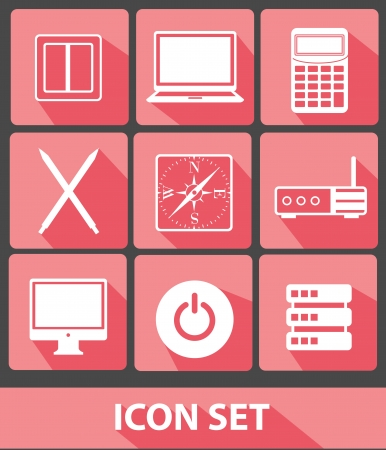 Web icons,Pink buttons,vector Vector