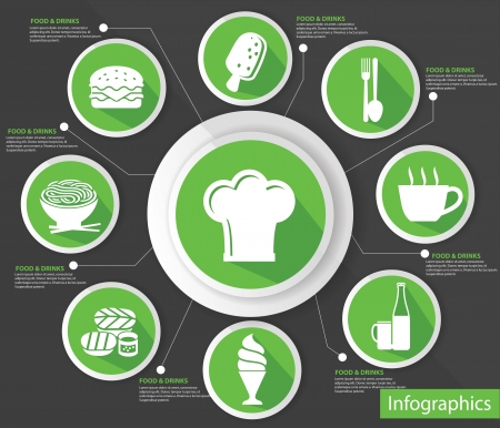 Cooking concept,abstract,Gr een version,vector Vector