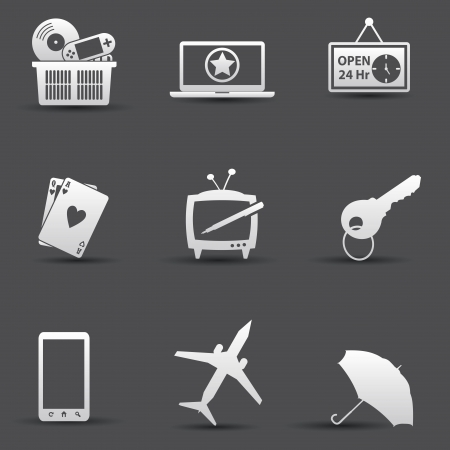 Media   Web icons,vector Vector