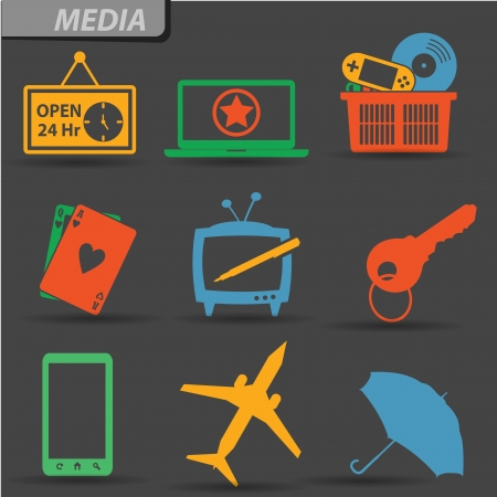 supermarket series: Media and Web icons,vector