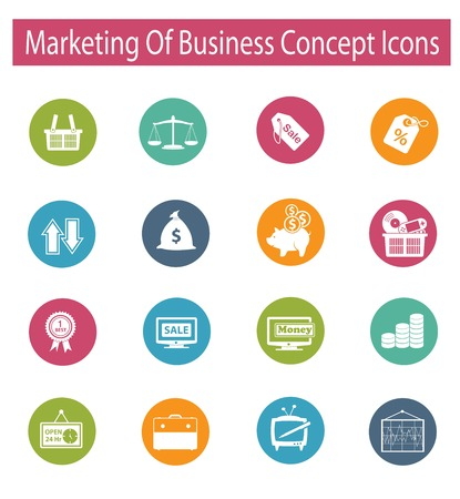 Marketing of business concept icons,vector Stock Vector - 25123573