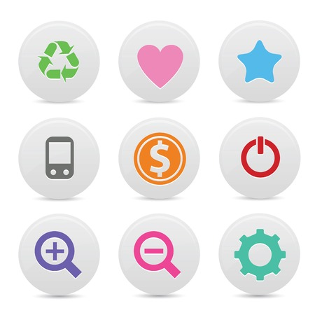 Website buttons,Colorful version,vector