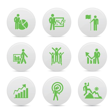 Human resource icons,green version,vector Vector