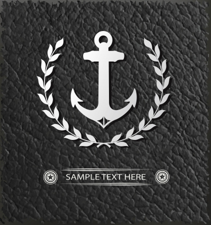 navy pier: Anchor badge symbol,vector