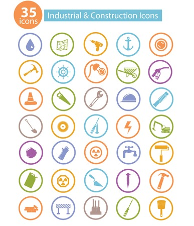 Industry and construction icons,on white background Stock Vector - 25211362